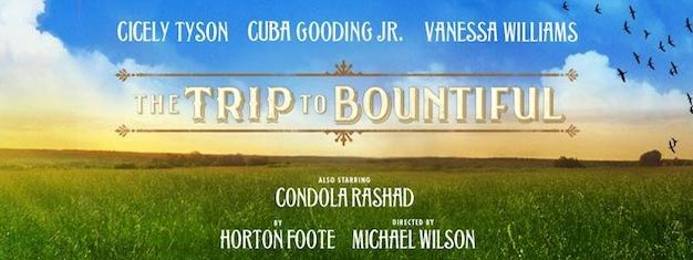 The Trip to Bountiful on Broadway in New York with Cuba Gooding JR., Cicely Tyson and Vanessa Williams. Book tickets to The Trip to Bountiful in New York here!