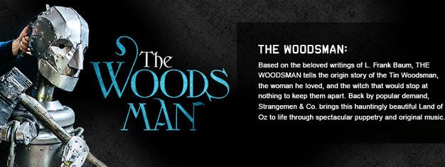 The Woodsman i New York fortæller den oprindelige historie om Tin Woodsman af L. Frank Baum. Billetter til The Woodsman i New York kan bestilles her!