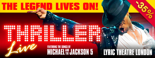 Thriller - Live je měsíční chůze po londýnském West Endu. Vstupenky na londýnské představení Thriller – Live zakoupíte zde! Oslavte tvorbu krále popu Michaela Jacksona.