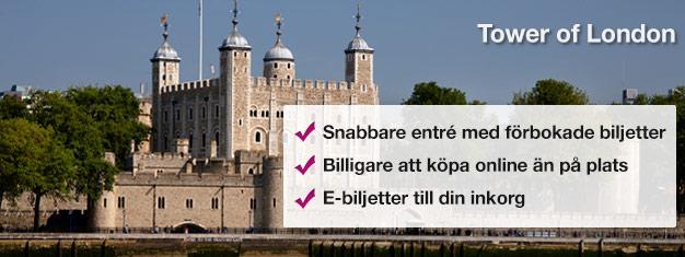 Biljetter till Towern i London! Se kronjuvelerna, Beefeaters, The Bloody Tower och The Traitors Gate i detta mästerverk i Londons historia, Tower of London.