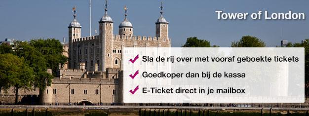 De Tower of London geeft u de kans de Kroonjuwelen, Beefeaters, Bloody Tower en Traitors Gate van dichtbij te bewonderen. Mis dit niet en koop tickets!
