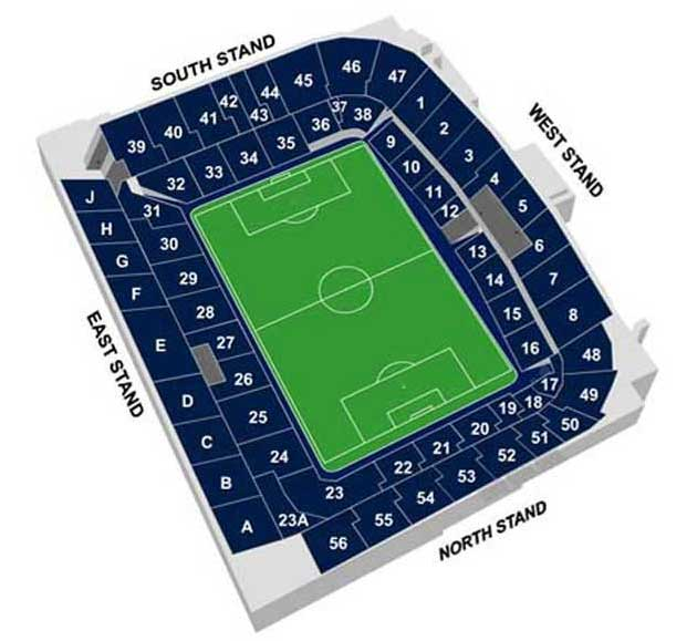 Seatingplan White Hart Lane