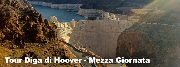 Quando sei a Las Vegas, fa' in modo di visitare anche la Diga di Hoover, spesso elencata tra le 7 meraviglie artificiali del mondo. Prenota qui!