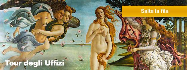 La Galleria degli Uffizi deve essere visitata, in quanto comprende alcune delle opere d'arte migliori del rinascimento italiano. Prenota ora e salta le code all'ingresso!