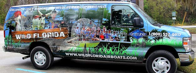 Enjoy a 1-hour airboat ride and see the wild Florida! Visit the Wildlife Park and see, touch and feed the animals. Incl. transportation. Book online!