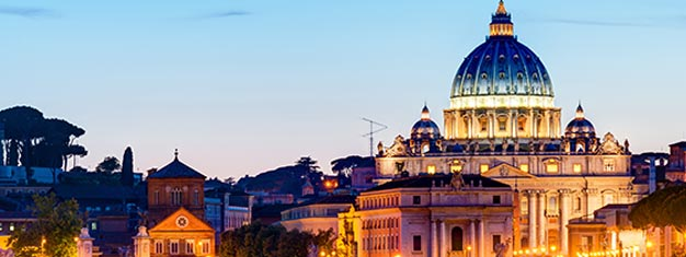 Visit the Vatican Museum and the Sistine Chapel at night and enjoy the masterpieces without the massive crowds and heat. Book this popular tour online!