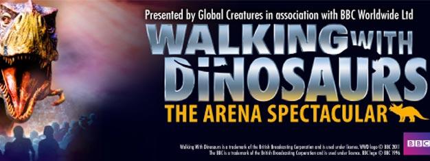 Efter års planlægning, kommer Walking With Dinosaurs, til live i London på O2 Arena. Walking With Dinosaurs er BBC's prisbelønnede TV-Serie, der også er vist på dansk TV.