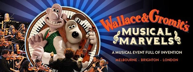 Wallace & Gromit's Musical Marvels in London is a live, interactive show featuring classical favourites for all the family plus specially filmed new Wallace and Gromit animations.