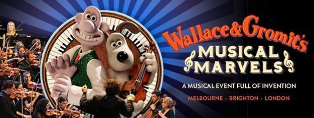 Wallace & Gromit's Musical Marvels i London er et live og interaktivt show for hele familien inkl. nye film med Wallace and Gromit. Køb billetter her!