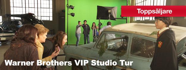 Biljetter till Warner Brothers VIP Studio Tur. Få en sällsynt inblick i underhållningsvärlden, gå bakom kulisserna och se var all film magi sker. Boka biljett!