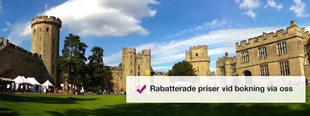 Köp biljetter till Warwick Castle utanför London och vittna 1000 års häpnadsväckande historia på nära håll. Boka biljetter till Warwick Castle här!