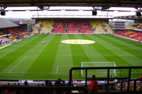 Estadio Vicarage Road. FútbolenLondres.es