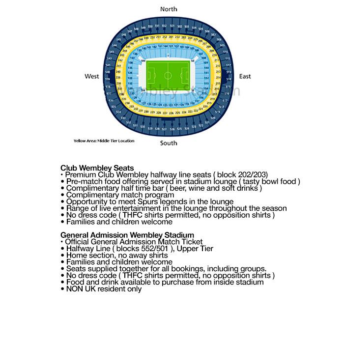 مخطط المقاعد Wembley Stadium