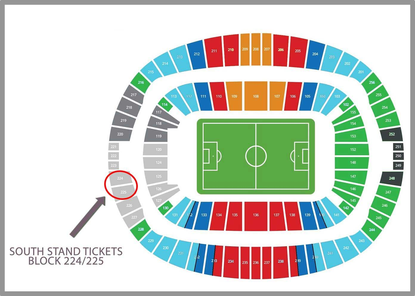 Plano del estadio Olympic Stadium