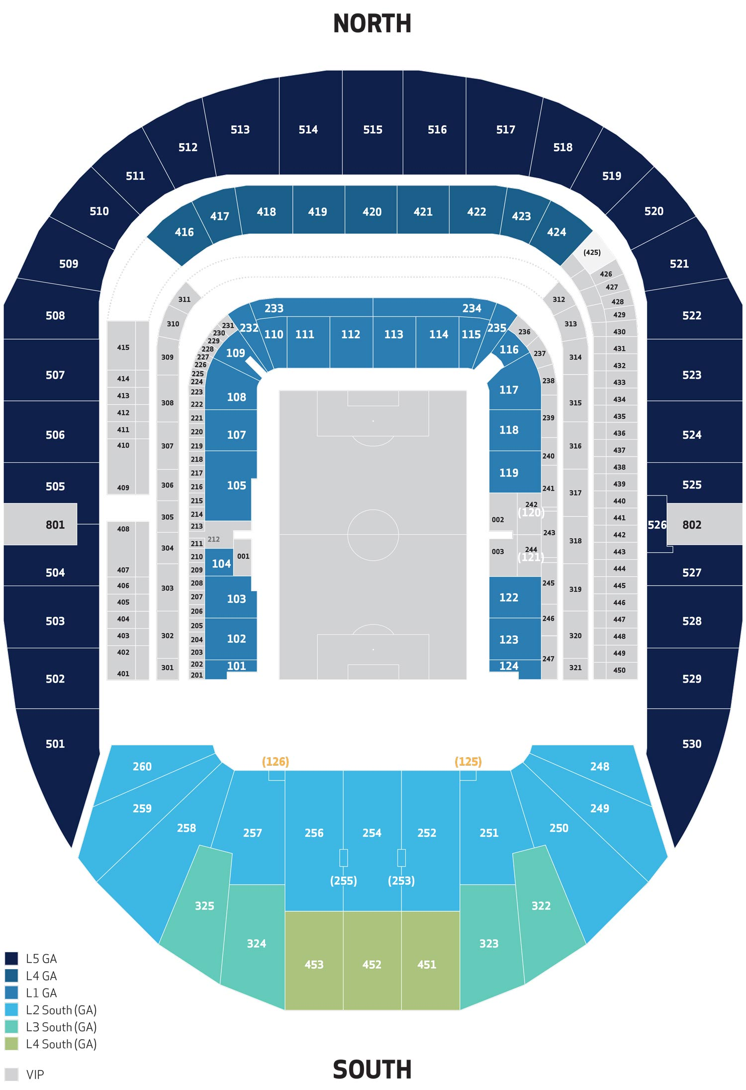 Venue seatingplan White Hart Lane