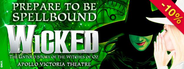 Zobacz szeroko nagradzany musical Wicked w Londynie. Traktuje on o dwóch czarownicach z Oz, magii i przyjaźni. Zachwyć się niezapomnianym widowiskiem!