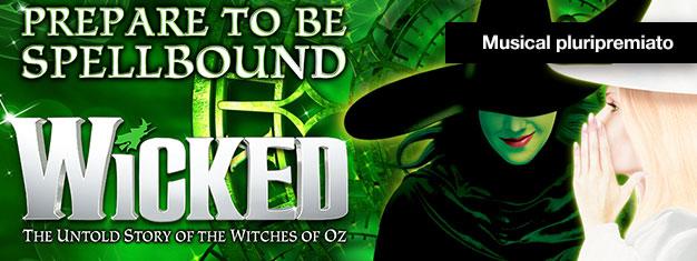 Vivi Wicked a Londra – un musical su streghe, magia e due insolite amiche. Wicked ha vinto più di 100 premi. Prenota i tuoi biglietti online!