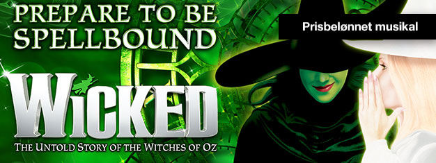 Opples Wicked i London - en musikal om hekser, magi og to usannsynlige venner. Wicked har vunnet over 100 priser. Bestill billetter på nettet!