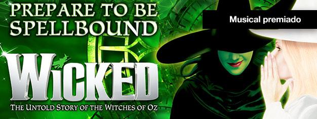 Descubra a magia de Wicked em Londres, um premiado musical sobe bruxas e uma amizade improvável no fantástico mundo de Oz. Reserve online aqui!