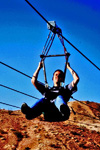 Zip-line eventyrtur med Flightlinez Bootleg Canyon