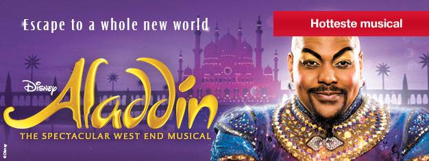 Forudbestil dine billetter til Disneys nyeste musicalhit Aladdin i London. Det er en magisk musical for hele familien! Bestil nu!