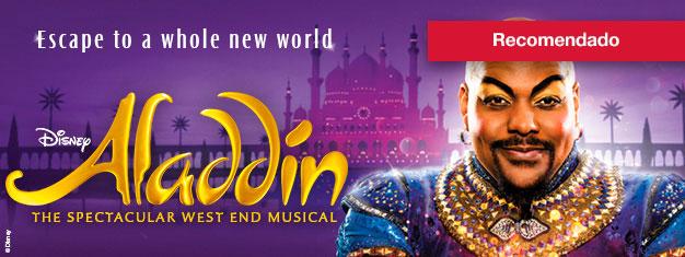 Reserve já os biçhetes para o mais novo musical da Disney em Londres – Aladdin! Uma experiência mágica para toda a família.