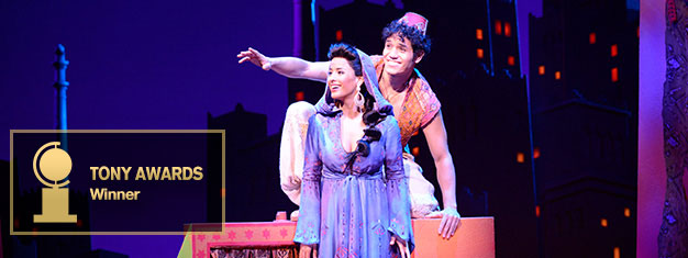 Experience Disney's new musical Aladdin on Broadway in New York. It's a magical musical for the entire family! Prebook your tickets online!