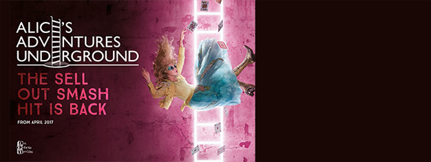 """""""There is a place. Like no place on Earth. A land full of Wonder, Mystery and Danger"""" wrote Lewis Carroll. Book your tickets to Alice's Adventures Underground in London here!"""