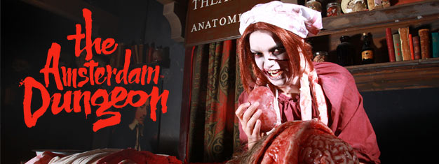 Welcome to Amsterdam Dungeon, more than 500 years of Amsterdam's horrible history. If you are not scared yet, book your tickets here for Amsterdam Dungeon!