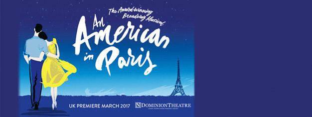An American In Paris är en prisbelönt, spännande iscensättning med fantastisk dans som också innehåller några av George och Ira Gershwins bästa sånger.