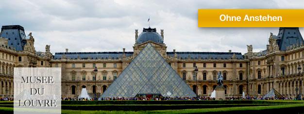 Umgehen Sie die Schlange vor dem Louvre in Paris. Kaufen Sie Tickets inklusive Audioguide für das Louvre Museum und erkunden Sie im eigenen Tempo.