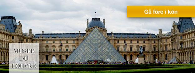 Skippa köerna vid Louvren i Paris och spara tid! Köp ett biljettpaket inkl. inträdesbiljett och audioguide för Louvren och utforska museet i din egen takt.