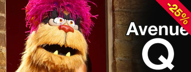 Experience the musical comedy Avenue Q on Broadway! The musical combines actors and puppets in one hilarious show! Book your tickets already today!