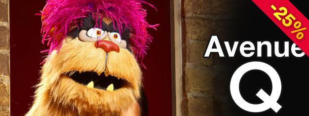 Veja Avenida Q em Broadway, em Nova York! O hilário musical com pessoas e bonecos. Compre ingressos para Avenue Q em Nova York aqui!