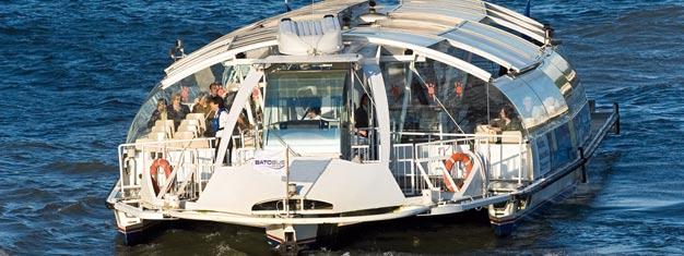 Erkunden Sie Paris vom Wasser aus mittels Hop-On-Hop-Off-Sightseeing per Schiff und 8 zentralen Haltestellen. Sehen Sie die schönsten Sehenswürdigkeiten in 24 oder 48 Stunden. Online kaufen!
