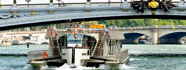 Bestill billetter til Paris Sightseeing Cruise og se det beste av Paris med båt. Bestill billetter til vår 1 time Paris Sightseeing Cruise her!