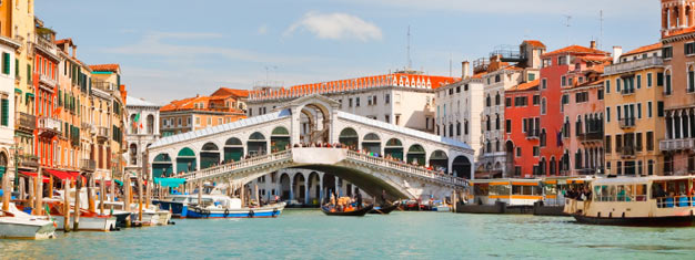 Take a sightseeing tour and see the best of Venice, try a gondola ride, get an exclusive tour of St. Mark's Basilica or try a unforgettable food and wine tour in the Jewish Quarter.