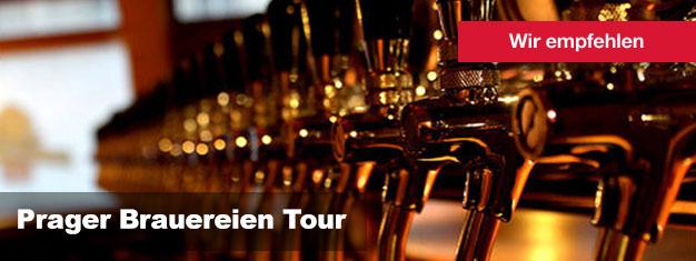 Die Prager Brauereien Tour ist die beste Biertour in ganz Tschechien. Kaufen Sie hier Ihre Tickets für die Prager Brauereien Tour und kosten Sie die berühmten tschechischen Biere!