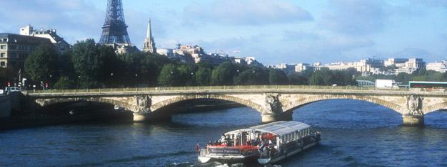Zamów bilety na zwiedzanie i rejs po Paryżu organizowany przez Paris Vision w Paryżu. Zwiedź cały Paryż autobusem i statkiem wycieczkowym — wspaniale, elegancko i bez trudu!