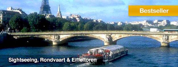 Boek vooraf tickets voor deze sightseeing tour in Parijs- per bus, boot of door de lucht. Inclusief de Eiffel Toren zonder wachtrij! U krijgt waar voor uw geld!
