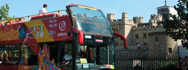 Oplev London med The Original Tour-busserne. Fire Hop-af Hop-på buslinjer, 90 stop og 24 eller 48 timer giver dig frihed til at opleve London i dit tempo!