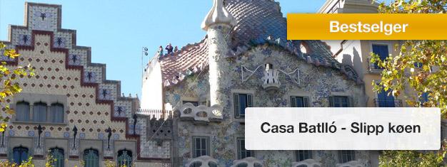 Slipp køen til Casa Batlló med forhåndsbestilte billetter!Besøk en av Antoni Gaudís mest kjente bygningene i Barcelona - Casa Batlló! Bestill billetter på nettet!