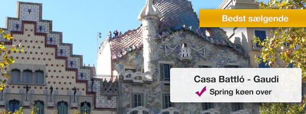 Spring køen over til Casa Batlló med forudbestilte billetter! Besøg et af Antoni Gaudis mest berømte mesterværker i Barcelona - Casa Batlló. Bestil her!