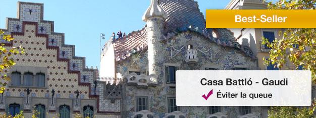 Evitez les files d'attente pour Casa Batlló avec des billets réservés en avance, Une des fameuses oeuvres de Gaudi. Réservez en ligne!