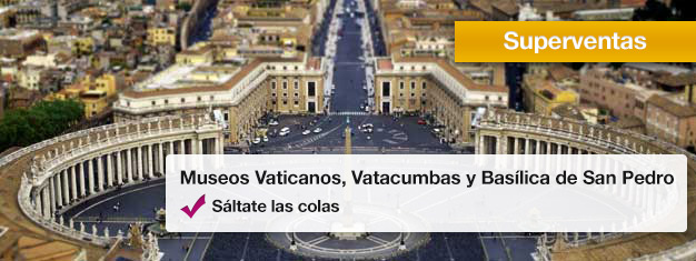 Visita los Museos del Vaticano, Vatacumbas y ve la Basílica de San Pedro en este popular tour. Reserva tus entradas desde casa y evita todas las filas!