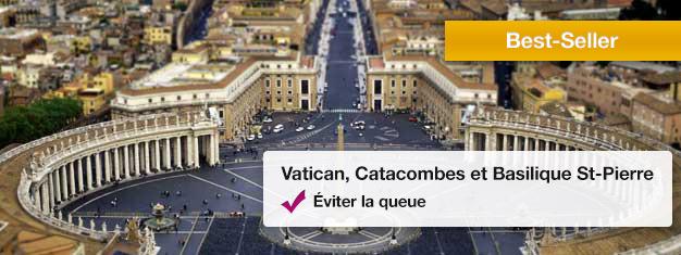 Visitez les Musées du Vatican, Les Vatacombs et la Basilique de Saint-Pierre dans cette visite populaire. Réservez vos billets tranquillement depuis chez vous et évitez les longues files d'attente!