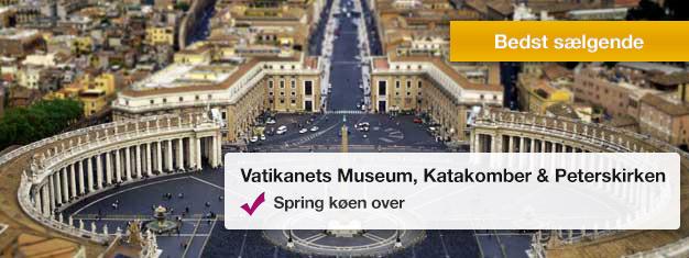 Oplev Vatikanets museum, Vatikanets katakomber og Peterskirken på denne populære tur. Bestil dine billetter hjemmefra og spring alle køer over!