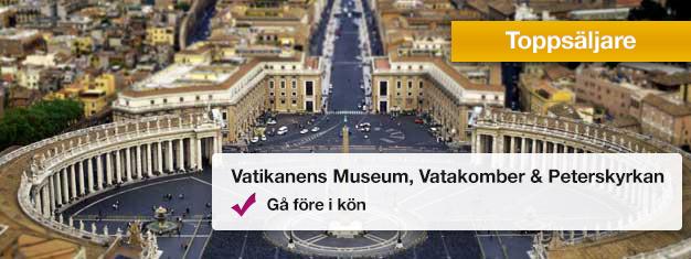 Besök Vatikanens Museum, Sixtinska Kapellet och Peterskyrkan med Vatakomberna på denna populära tur. Boka dina biljetter hemifrån och undvik köerna på plats!