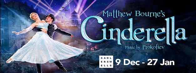 Matthew Bourne's Cinderella på Sadler's Wells i London. Boka dnia biljetter till denna rörande balettföreställning här!