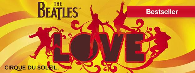 LOVE im The Mirage in Las Vegas feiert das musikalische Erbe der beliebtesten Rockgruppe aller Zeiten, The Beatles! Tickets für LOVE in Las Vegas hier!